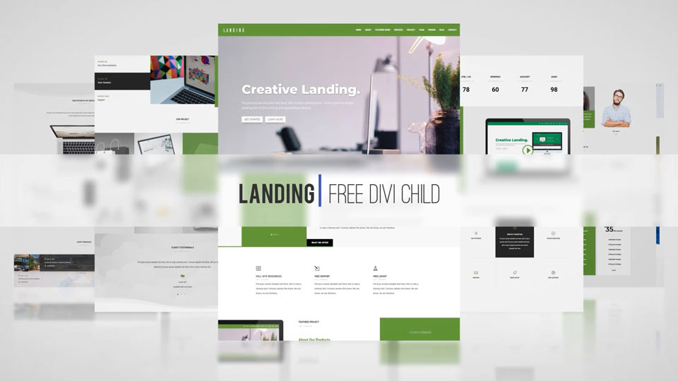 Landing Theme One Click Demo Import!